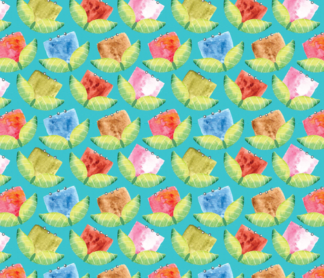 Whimsical Abstract Flowers fabric by cathleenbronsky on Spoonflower - custom fabric