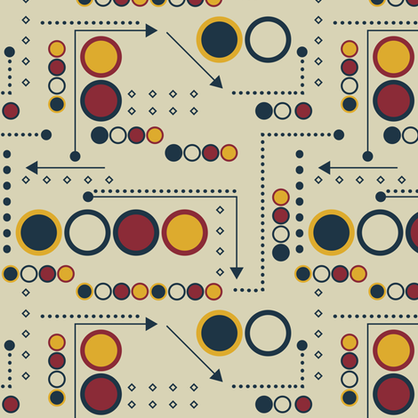 Arcade Dots and Arrows fabric by sarah_treu on Spoonflower - custom fabric