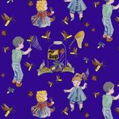 Catching Bugs! Purple background by Salzanos