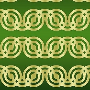 Circle Chains in green and gold