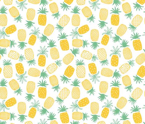 Pineapple Print (Medium) fabric by shelbyallison on Spoonflower - custom fabric