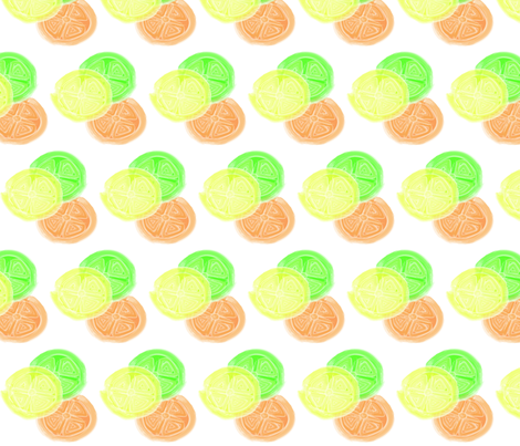 Watercolor_Citrus fabric by rae0010 on Spoonflower - custom fabric