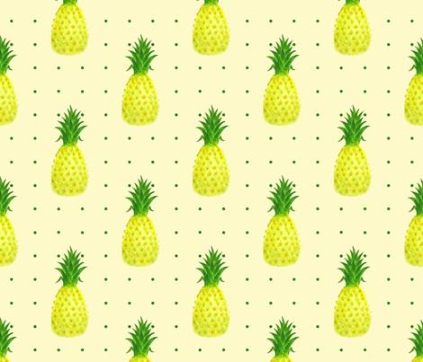 Pineapple_Pindot fabric by white_tulip_designs on Spoonflower - custom fabric