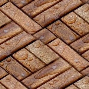 wet parquet flooring