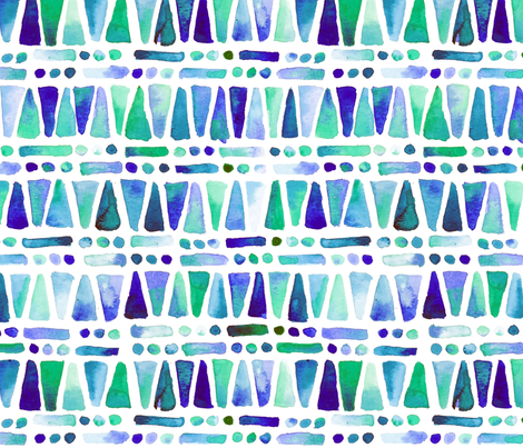 Geometric Watercolor Shapes fabric by lisalangenhop on Spoonflower - custom fabric
