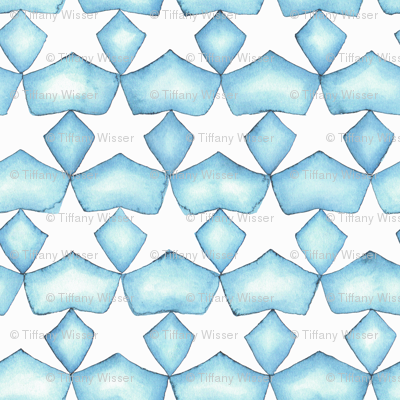 Watercolor Stars - Aqua