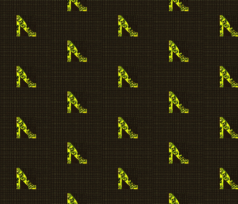 Golden shoes on black fabric by twigsandblossoms on Spoonflower - custom fabric