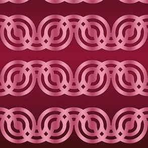 Circle chains in cherry red and pink