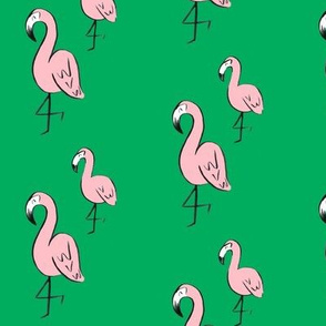 flamingo party // pink and green
