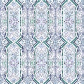 Rococo Nouveau vertical stripe