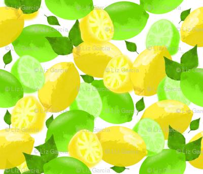 Lemon Lime Watercolor