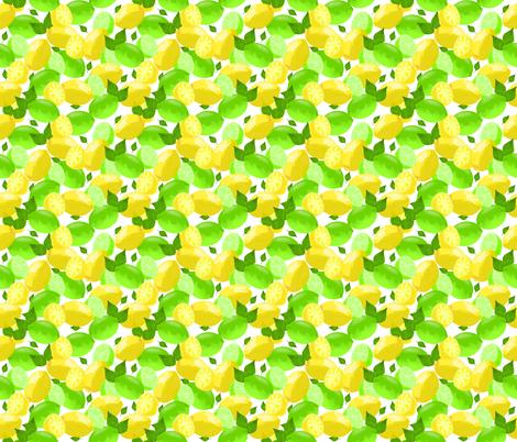 Lemon Lime Watercolor fabric by lanrete58 on Spoonflower - custom fabric