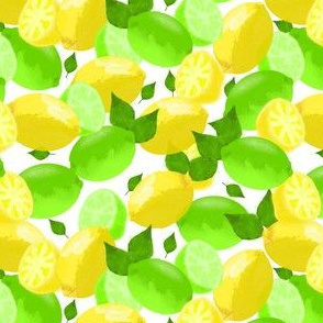 Lemon Lime Watercolor
