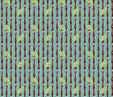 Maui Pop - Bamboo - Aqua fabric by shannanigan on Spoonflower - custom fabric