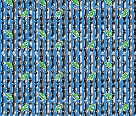 Maui Pop - Bamboo - Blue fabric by shannanigan on Spoonflower - custom fabric