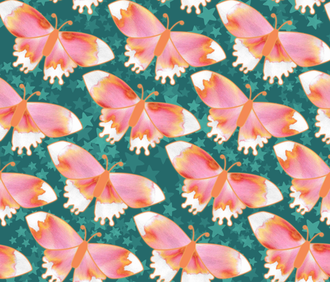 Blazin'Butterflies fabric by kiwiscomet on Spoonflower - custom fabric
