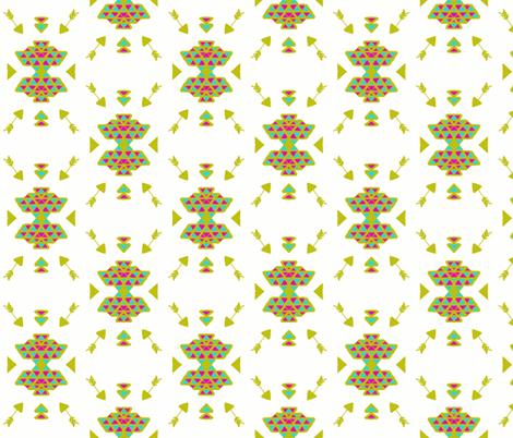 Native Wild Arrow Geometric Art in Gold fabric by hejamieson on Spoonflower - custom fabric