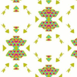 Native Wild Arrow Geometric Art in Gold