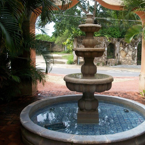 Cozumel Courtyard Fountain