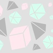 pastel geometric shapes