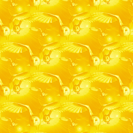 hedwigs family in yellow - potter's world  fabric by stofftoy on Spoonflower - custom fabric
