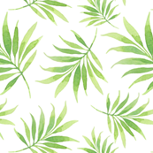 Watercolor tropical pattern 2