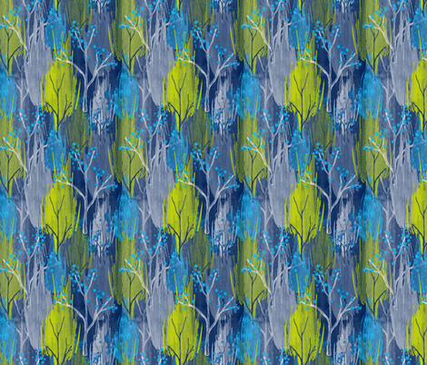 Abstract Watercolour Trees fabric by j9design on Spoonflower - custom fabric