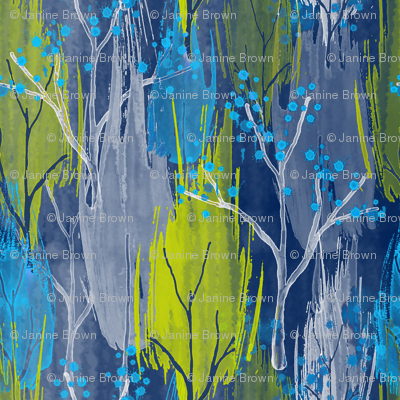 Abstract Watercolour Trees