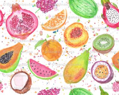 Fresh Fruits in Watercolor