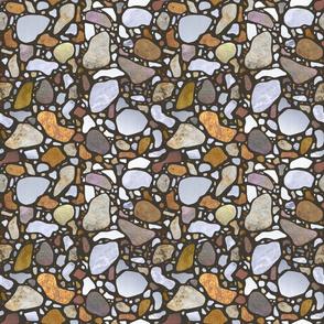 Terrazzo Pattern on Gray
