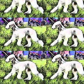 Bedlington Terrier Movement Tiles