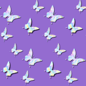 Médium butterflies  on lavender purple ( for dress,