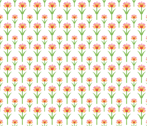 Cut-Out Floral fabric by thewellingtonboot on Spoonflower - custom fabric