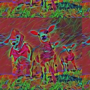 Bedlington Terrier Lambs Psychedelic