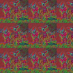 Bedlington Terrier Lambs Psychedelic Tiles