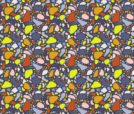 Multi-Color Terrazzo fabric by thewellingtonboot on Spoonflower - custom fabric