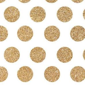Gold Glitter Dots