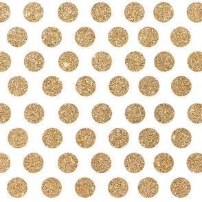 Gold Glitter Dots Mini
