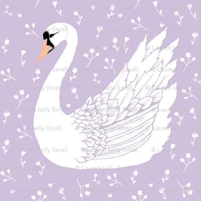 SWAN on wedding lilac