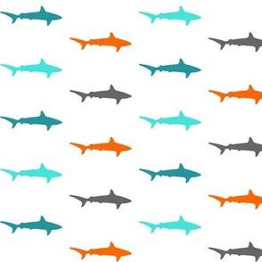 Sharks and sharks in orange