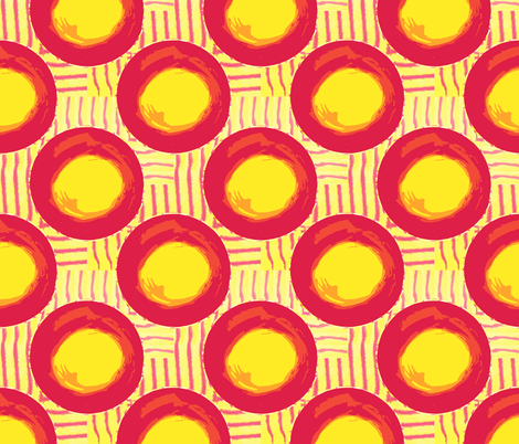 Sun Dots and Heat Waves fabric by anniedeb on Spoonflower - custom fabric