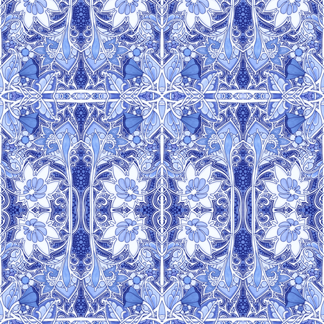 Victorian Delft fabric by edsel2084 on Spoonflower - custom fabric