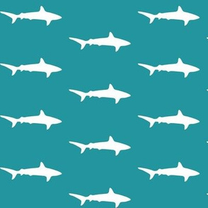 Teal and White sharks