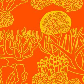 Coral (yellow on bright orange)