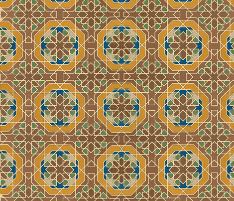 arabesque 11 fabric by hypersphere on Spoonflower - custom fabric