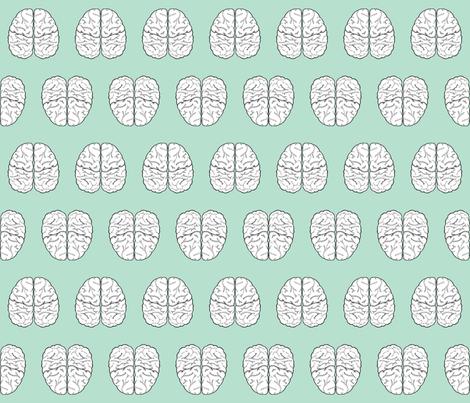 Brain Sketch | Cruise fabric by handmadephd on Spoonflower - custom fabric
