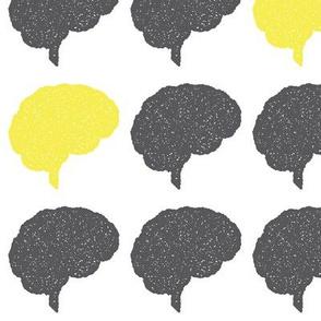 Brain Stamp | Yellow