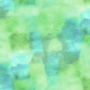 fiesta watercolor squares - green and blue