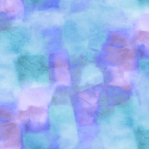 fiesta watercolor squares - purple and aqua