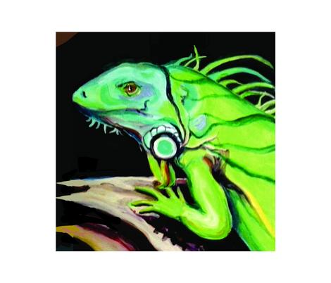 iguana2 fabric by anne_jantz_designs on Spoonflower - custom fabric
